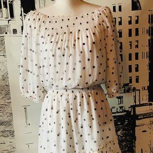 WHBM polkadot sheer dress L